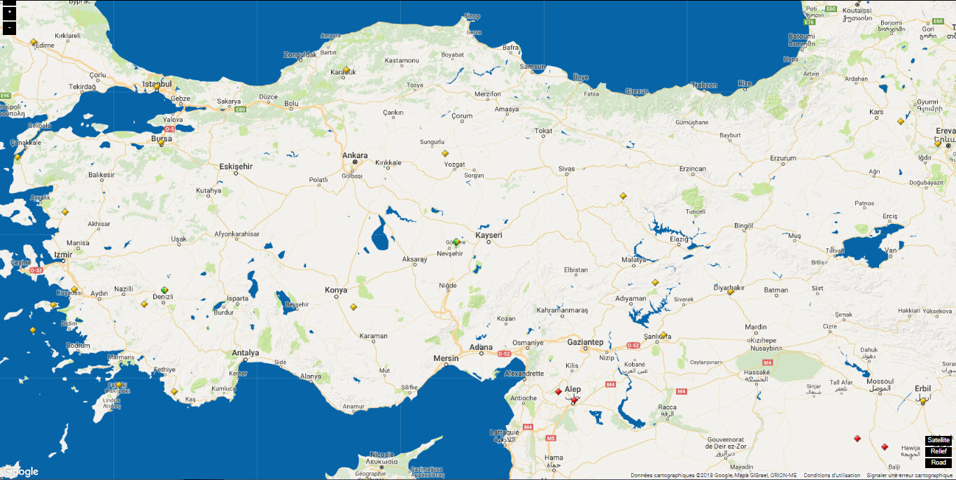 WORLD HERITAGE TURKEY MAP